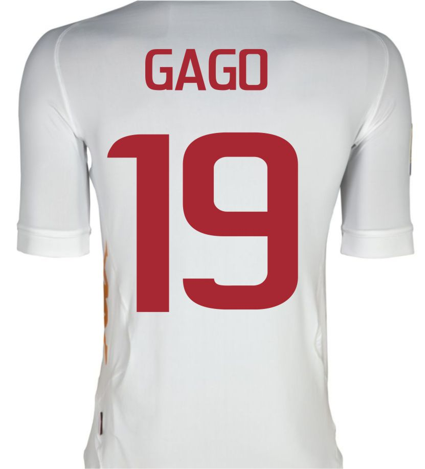 2011-12 Roma Kappa Away Shirt (Gago 19)