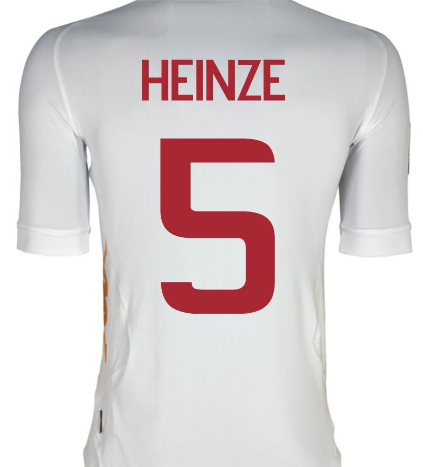 2011-12 Roma Kappa Away Shirt (Heinze 5)
