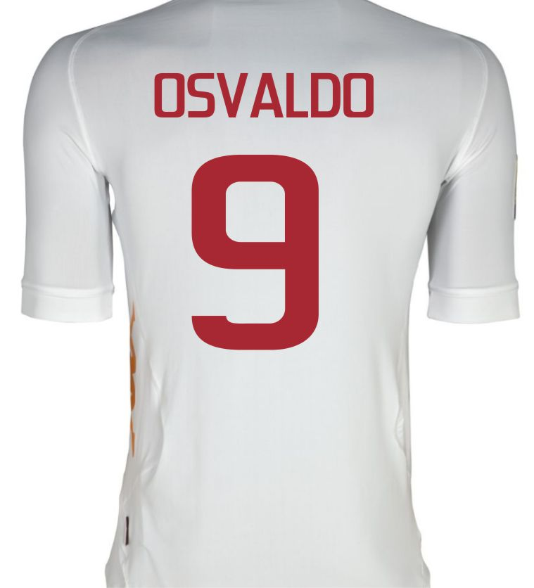 2011-12 Roma Kappa Away Shirt (Osvaldo 9)