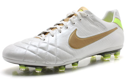 Tiempo Legend IV Elite FG Football Boots White/Metallic Gold