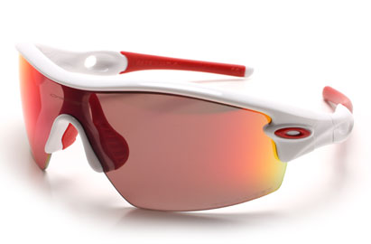 Oakley Polarized Radar Pitch OO9052 26-216 White Sunglasses