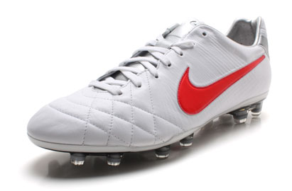 Tiempo Legend IV Elite FG Football Boots White/Siren Red/Silver