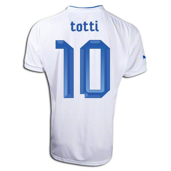 2012-13 Italy Away Football Shirt (Totti 10)