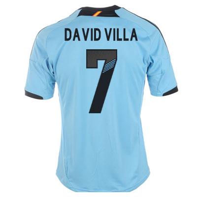 2012-13 Spain Euro 2012 Away (David Villa 7)