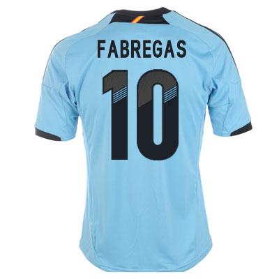 2012-13 Spain Euro 2012 Away (Fabregas 10)