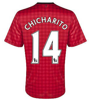 2012-13 Man Utd Nike Home Shirt (Chicharito 14) - Kids