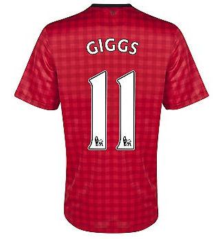 201213 Man Utd Nike Home Shirt (Giggs 11)  Kids