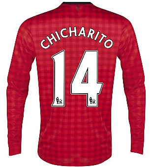 2012-13 Man Utd Nike Long Sleeve Home (Chicharito 14) - Kids