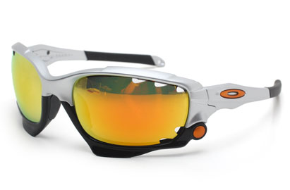 Oakley Racing Jacket Vented 9171 11 Silver Fire Iridium Polarised Sunglasses