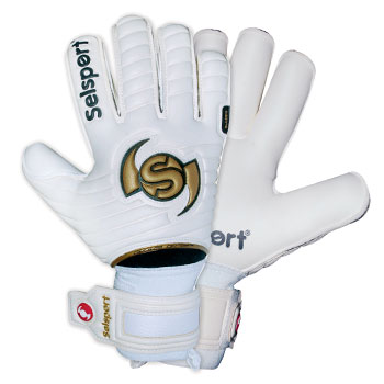 Wrappa Classic Goalkeeper Gloves White/Black/Gold