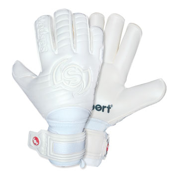 Wrappa Phantom Kids Goalkeepers Gloves White/White