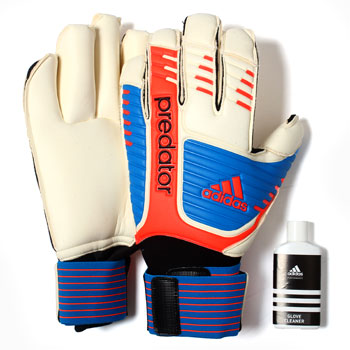 Predator Finger Tip Goalkeepers Gloves Running White/Bright Blue/Infra Red