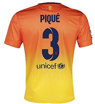 2012-13 Barcelona Nike Away Shirt (Pique 3)