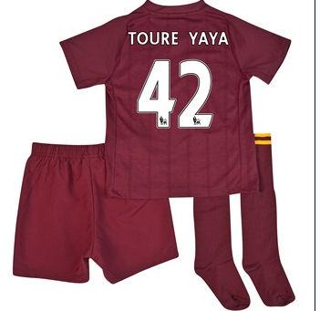 2012-13 Man City Umbro Away Mini Kit (Toure Yaya 42)