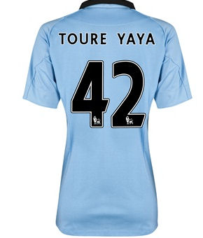 2012-13 Man City Womens Home Shirt (Toure Yaya 42)