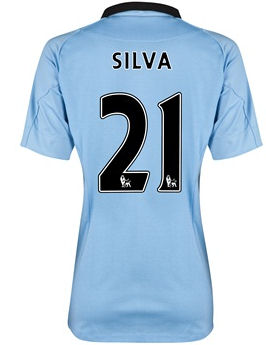 2012-13 Man City Womens Home Shirt (David Silva 21)