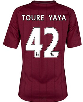 2012-13 Man City Womens Away Shirt (Toure Yaya 42)