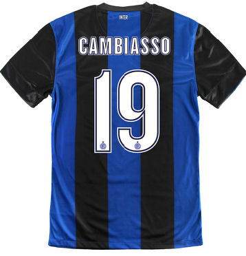 201213 Inter Milan Nike Home Shirt (Cambiasso 19)  Kids