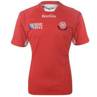 2011 Georgia Kooga Rugby World Cup Shirt