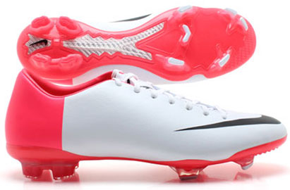 Mercurial Glide III FG Euro 2012 Football Boots White/Black/Sola