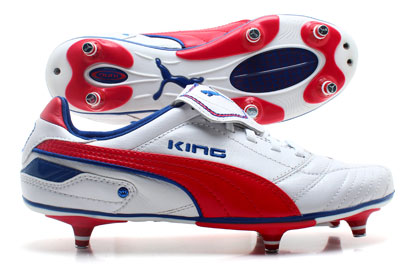King Finale SG Football Boots White/Ribbon Red