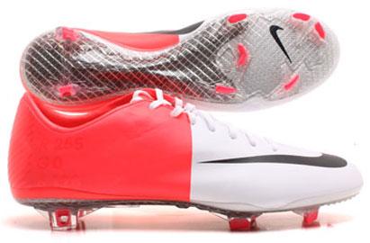 Mercurial Vapor VIII FG Football Boots White/Solar Red