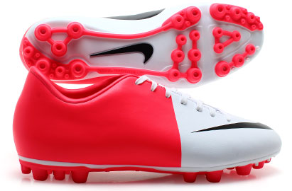 Mercurial Victory III AG Football Boots White/Black/Solar Red