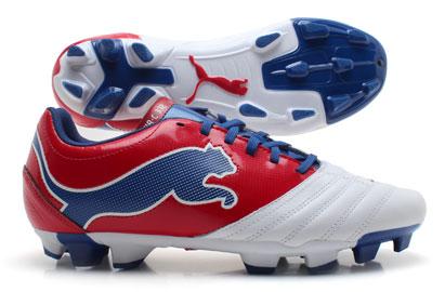 PowerCat 3.12 FG Football Boots White/Ribbon Red