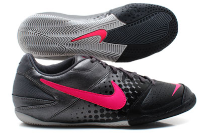 Nike5 Elastico IC Indoor Football Trainers Metallic Grey/Cherry/Black