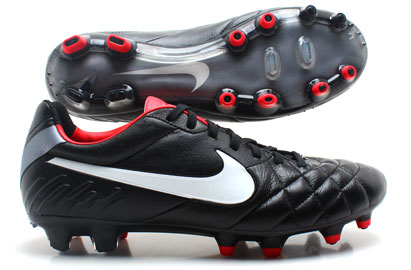 Tiempo Legend IV FG Football Boots Black/White/Chilling Red