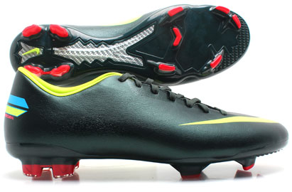 Mercurial Glide III FG Football Boots Seaweed/Volt/Challenge Red