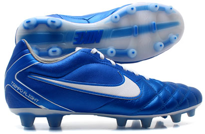 Tiempo Flight FG Football Boots Soar Blue/White