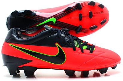 Total 90 Laser IV FG Football Boots Bright CrimsonDark Obsidian
