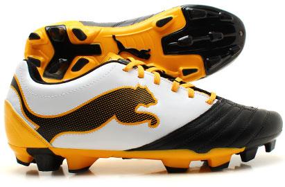 PowerCat 3.12 FG Football Boots Black/White/Yellow