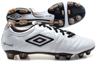 Umbro Speciali 3 Pro A HG Football Boots White/Black/Pewter