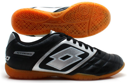 Stadio Potenza II 700 ID Indoor Football Trainers Black/Silver