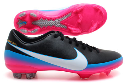 Mercurial Glide III CR7 FG Football Boots Black/Blue Glow/Pink Flash
