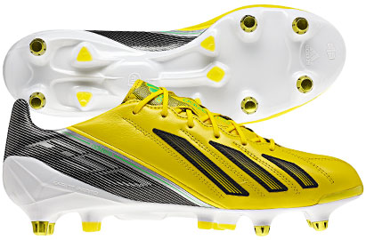 F50 adiZero XTRX Leather SG Football Boots Vivid Yellow/Green Zest/Black