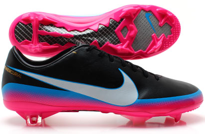 Mercurial Vapor VIII CR7 FG Football Boots Black/Blue Glow/Pink Flash