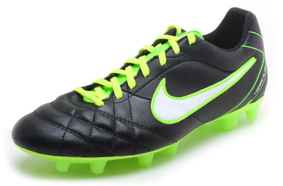 Tiempo Flight FG Football Boots Black/White/Electric Green