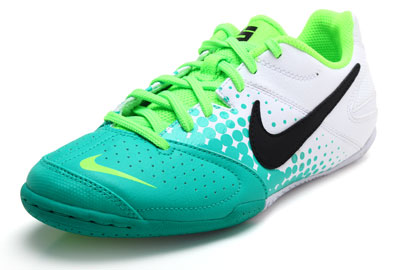 Nike5 Elastico IC Indoor Kids Football Trainers Atomic Teal/White/Electric Green