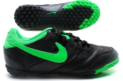 Nike5 Bomba Kids Astro Turf Football Trainers Black/Poison Green