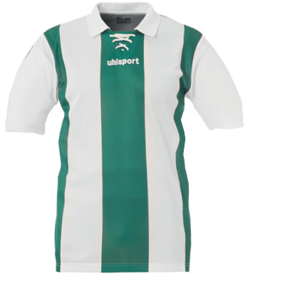 Uhlsport Retro Stripes SS Shirt (green-white) - Uksoccershop