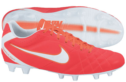 Tiempo Flight FG Football Boots Sunburst Red/White/Total Crimson