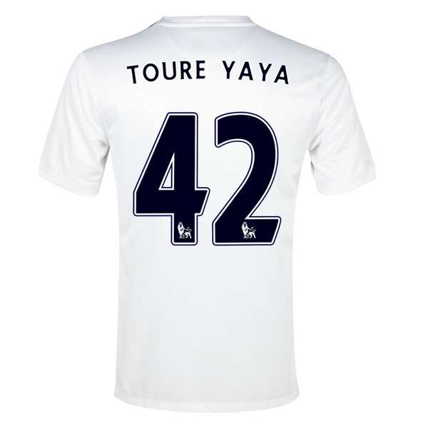 2013-14 Man City Third Shirt (Toure Yaya 42)