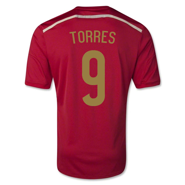 201415 Spain World Cup Home Shirt (Torres 9)