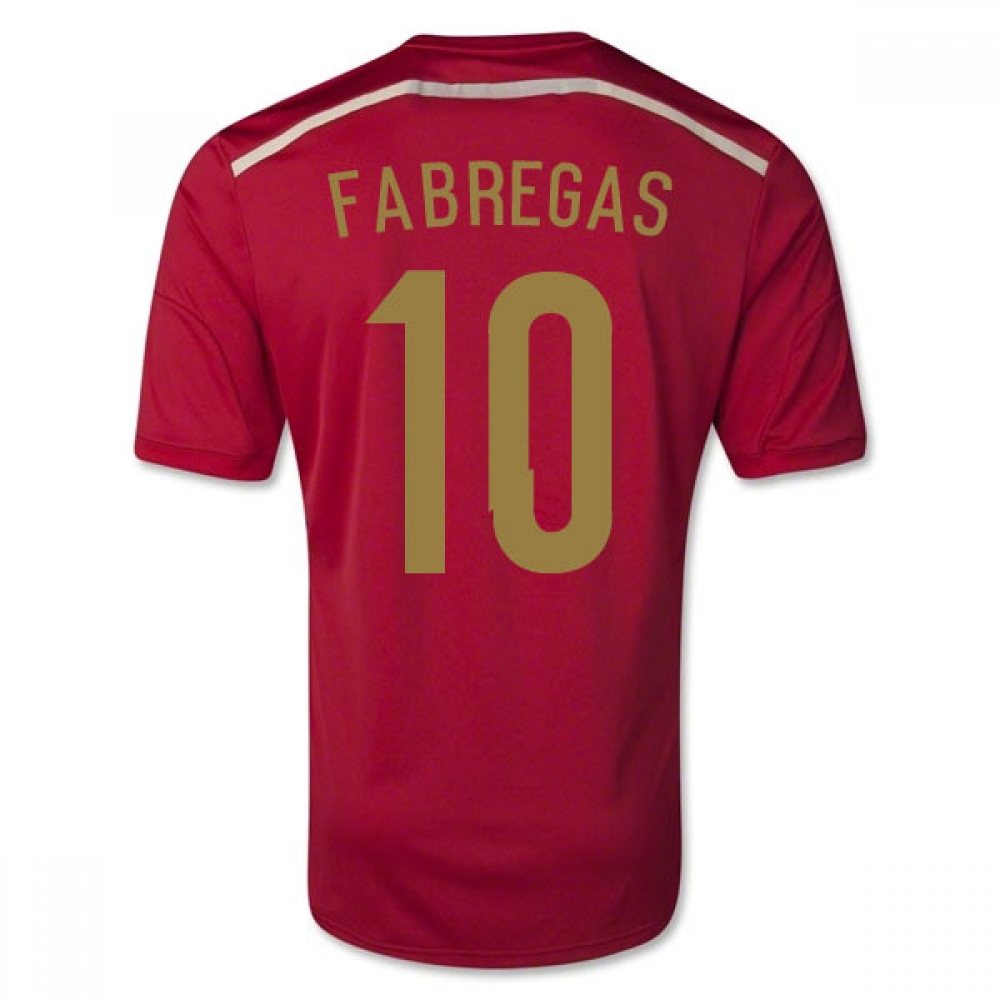 201415 Spain World Cup Home Shirt (Fabregas 10)  Kids