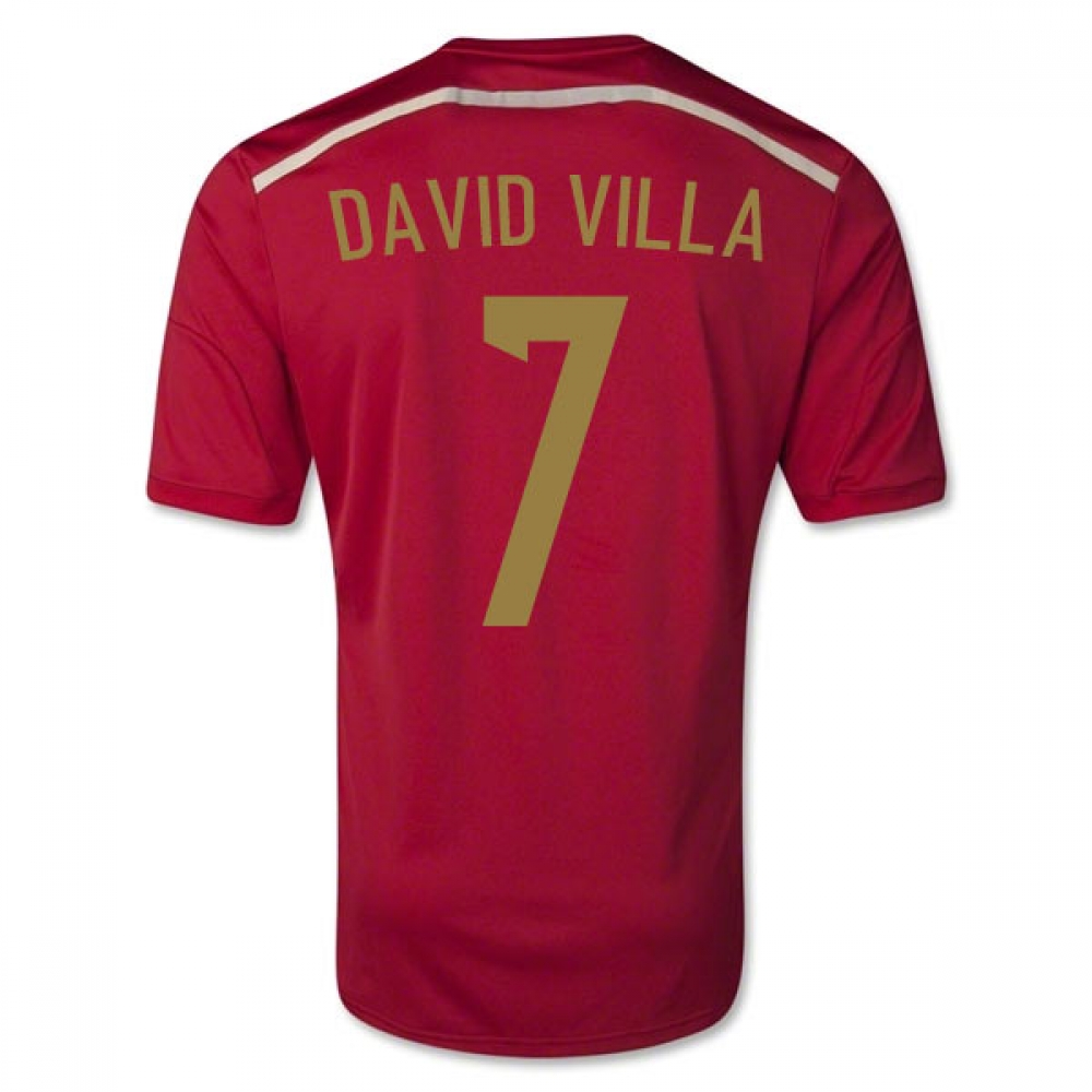 201415 Spain World Cup Home Shirt (David Villa 7)  Kids