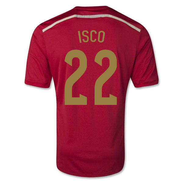 201415 Spain World Cup Home Shirt (Isco 22)