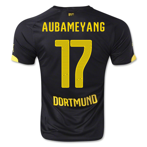 2014-15 Borussia Dortmund Away Shirt (Aubameyang 17) - Kids